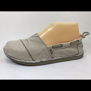 Bobs Skechers Memory Foam Canvas Loafers 8